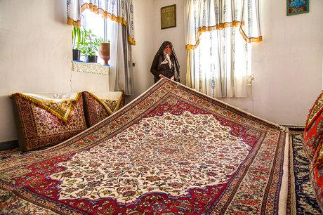 فرشبافی در روستای جیریا - اراک