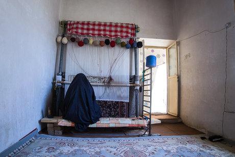 قالیبافی در روستای جیریا - اراک