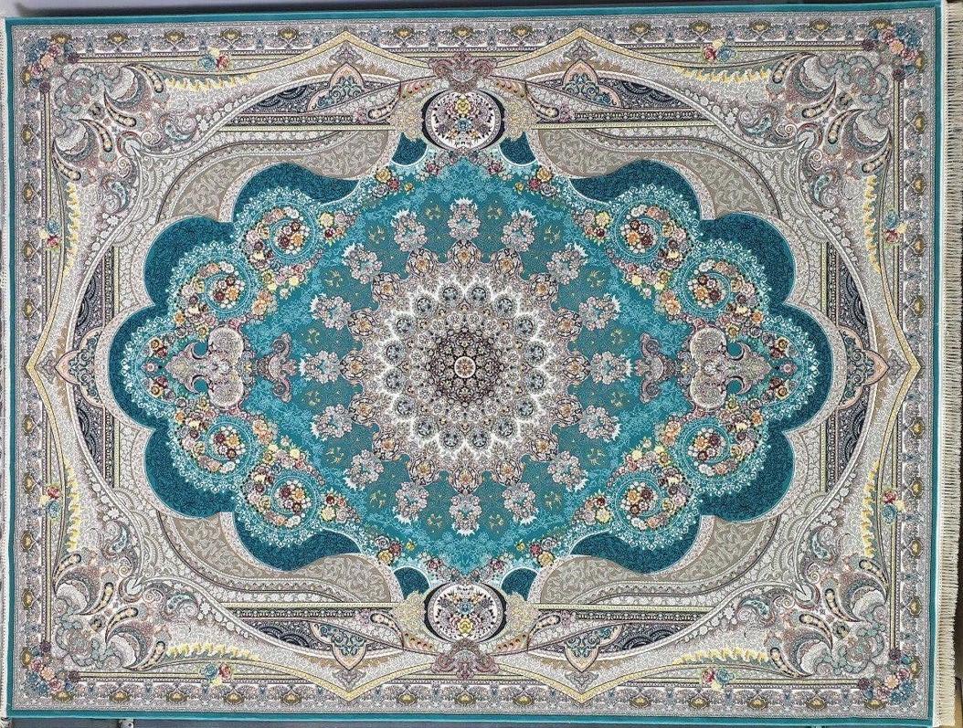 فرش زمینه آبی