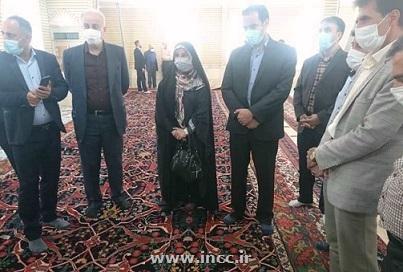 رئیس مرکز ملی فرش ایران از قالی تاریخی حسینیه بیجار بازدید کرد