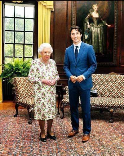 فرش ایرانی زیرپای ملکه انگلیس و نخست وزیر کانادا